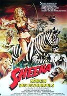 Sheena - German Movie Poster (xs thumbnail)