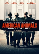 American Animals - British DVD movie cover (xs thumbnail)
