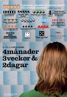 4 luni, 3 saptamini si 2 zile - Swedish DVD cover (xs thumbnail)