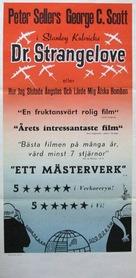 Dr. Strangelove - Swedish Movie Poster (xs thumbnail)