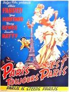 Parigi è sempre Parigi - Belgian Movie Poster (xs thumbnail)
