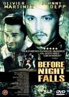 Before Night Falls - Danish DVD cover (xs thumbnail)