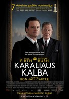 The King's Speech - Lithuanian Movie Poster (xs thumbnail)