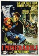 Les Misérables - Italian Movie Poster (xs thumbnail)