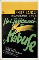 Das Testament des Dr. Mabuse - Dutch Movie Poster (xs thumbnail)