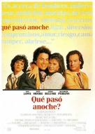 About Last Night... - Spanish Movie Poster (xs thumbnail)