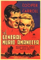 The General Died at Dawn - Spanish Movie Poster (xs thumbnail)