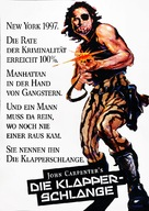 Escape From New York - German Movie Poster (xs thumbnail)