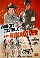 Buck Privates - Danish Movie Poster (xs thumbnail)