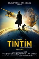 The Adventures of Tintin: The Secret of the Unicorn - Brazilian Movie Poster (xs thumbnail)