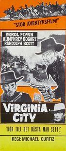 Virginia City - Swedish Movie Poster (xs thumbnail)