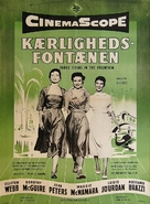 Three Coins in the Fountain - Danish Movie Poster (xs thumbnail)