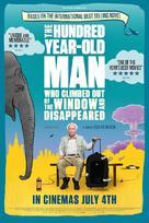 Hundraåringen som klev ut genom fönstret och försvann - British Movie Poster (xs thumbnail)