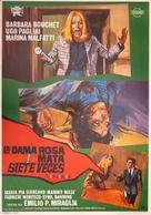 La dama rossa uccide sette volte - Spanish Movie Poster (xs thumbnail)
