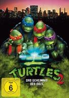 Teenage Mutant Ninja Turtles II: The Secret of the Ooze - German Movie Cover (xs thumbnail)