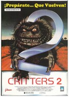 Critters 2: The Main Course - Spanish Movie Poster (xs thumbnail)