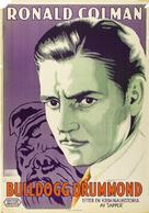 Bulldog Drummond - Swedish Movie Poster (xs thumbnail)