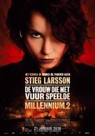 Flickan som lekte med elden - Dutch Movie Poster (xs thumbnail)