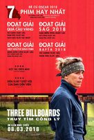 Three Billboards Outside Ebbing, Missouri - Vietnamese Movie Poster (xs thumbnail)
