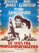 We Were Strangers - Danish Movie Poster (xs thumbnail)