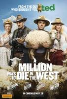 A Million Ways to Die in the West - Australian Movie Poster (xs thumbnail)