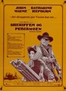 Rooster Cogburn - Danish Movie Poster (xs thumbnail)