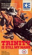 ...continuavano a chiamarlo Trinità - British VHS cover (xs thumbnail)