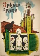 Tre piger i Paris - Danish Movie Poster (xs thumbnail)