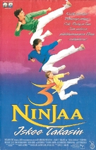 3 Ninjas Kick Back - Finnish VHS movie cover (xs thumbnail)