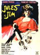 Jules Et Jim - Italian Movie Poster (xs thumbnail)