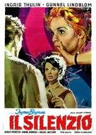 Tystnaden - Italian Movie Poster (xs thumbnail)