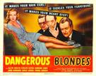 Dangerous Blondes - Movie Poster (xs thumbnail)