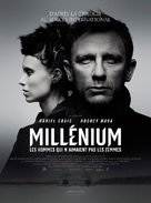 The Girl with the Dragon Tattoo - French Movie Poster (xs thumbnail)
