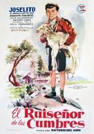 El ruiseñor de las cumbres - Spanish Movie Poster (xs thumbnail)