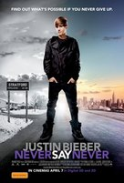 Justin Bieber: Never Say Never - Australian Movie Poster (xs thumbnail)