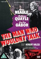 The Man Who Wouldn't Talk - British DVD cover (xs thumbnail)