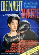 La notte - German Movie Poster (xs thumbnail)