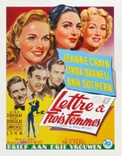 A Letter to Three Wives - Belgian Movie Poster (xs thumbnail)