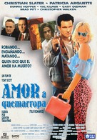 True Romance - Spanish Movie Poster (xs thumbnail)