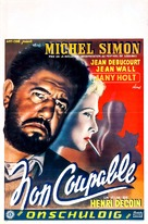 Non coupable - Belgian Movie Poster (xs thumbnail)