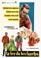 Three Violent People - Spanish Movie Poster (xs thumbnail)