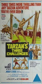 Tarzan's Three Challenges - Australian Movie Poster (xs thumbnail)