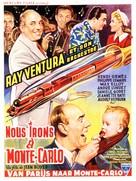 Nous irons à Monte Carlo - Belgian Movie Poster (xs thumbnail)