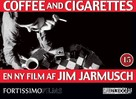 Coffee and Cigarettes - Danish Movie Poster (xs thumbnail)