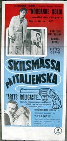 Divorzio all'italiana - Swedish Movie Poster (xs thumbnail)