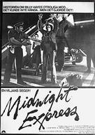 Midnight Express - Swedish Movie Poster (xs thumbnail)