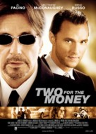 Two For The Money - Norwegian Movie Poster (xs thumbnail)