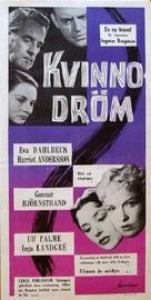 Kvinnodröm - Swedish Movie Poster (xs thumbnail)