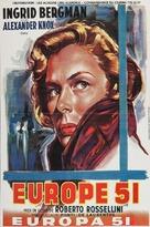 Europa '51 - Belgian Movie Poster (xs thumbnail)