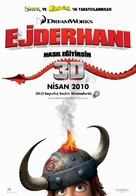 How to Train Your Dragon - Turkish Movie Poster (xs thumbnail)
